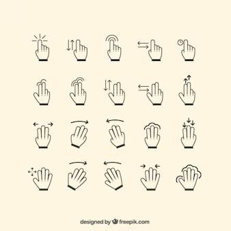 Coleção mão Gestos