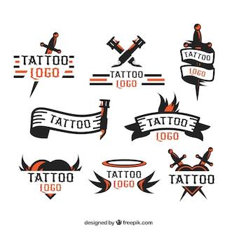 Coleção Minimalista de logotipos de tatuagem