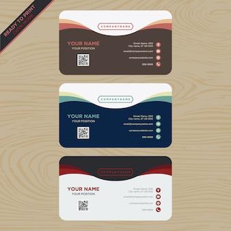 Coleção moderna do cartão de visita