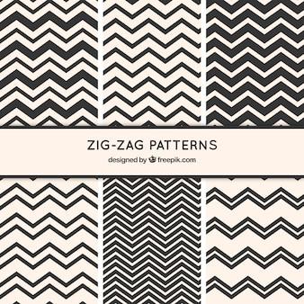 Coleção padrão zig-zag