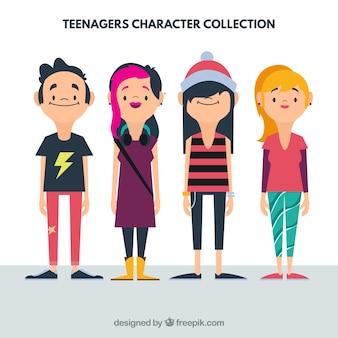 Coleção plana Adolescente