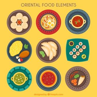 Coleção prato Oriental