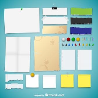Coleção texturas de papel