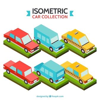 Coleção veículo isométrico