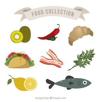 Colecction de alimentos saudáveis