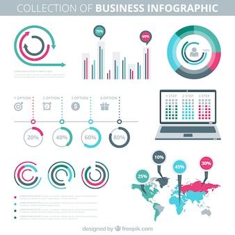 Colecction de infografia negócios