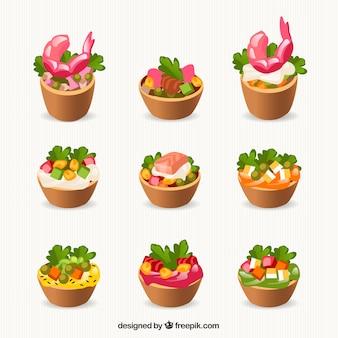 Coleta de alimentos saudáveis