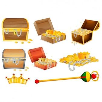 Coleta de baús de tesouro