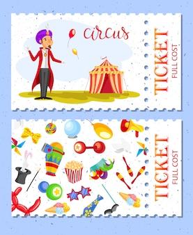 Coleta de bilhetes de circo