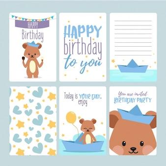 Coleta de cartões de aniversário