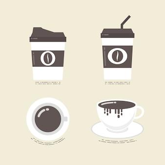 Coleta de copos de café