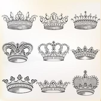 Coleta de coroas esboçadas