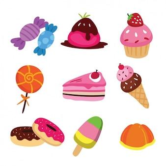 Coleta de doces coloridos