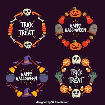 Coleta de grinaldas de Halloween