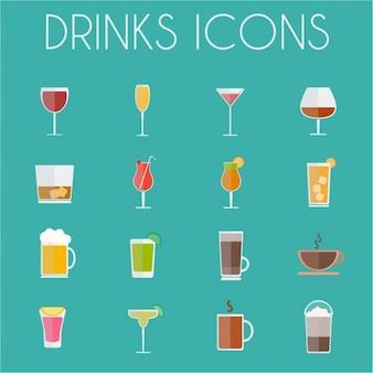 Coleta de ícones da bebida