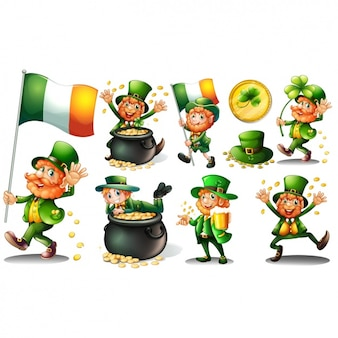 Coleta de leprechauns irlandeses