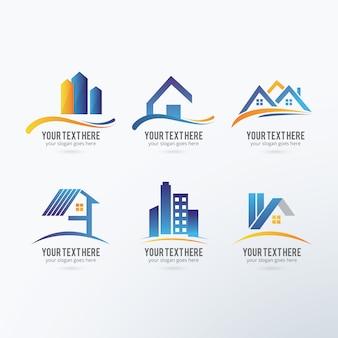 Coleta de logos imobiliário