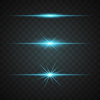 Coleta de luzes azuis