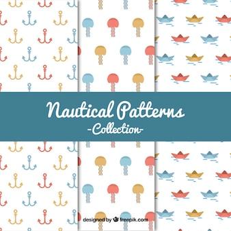 coleta de padrões náuticas