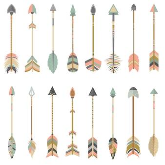 Coleta de setas coloridas