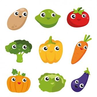Coleta de vegetais coloridos