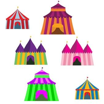 Colorful Big Top Vector Set