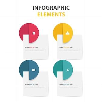Colorido, abstrato, círculo, negócio, infographic, modelo