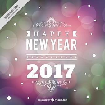 Colorido ano novo fundo bokeh