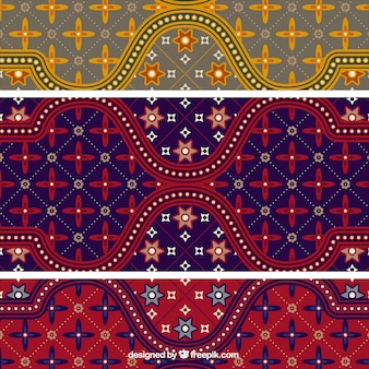 Colorido batik padrão ilustrador vetorial