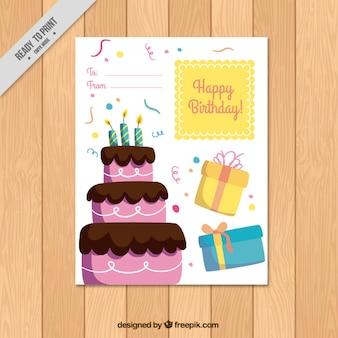Colorido cartão do feliz aniversario