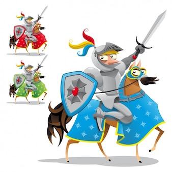 Colorido cavaleiros coleção