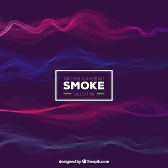 Colorido e fundo abstrato do fumo
