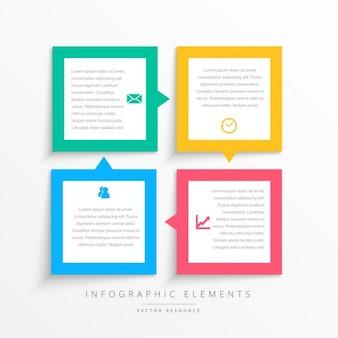 Colorido negócio infográficos passos quadro