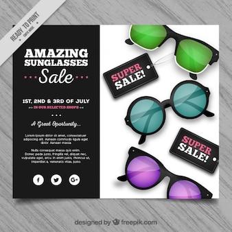 Colorido óculos de sol venda panfleto