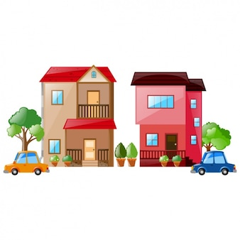 Colorido Projeto casas