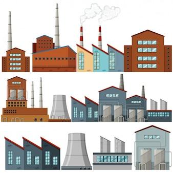 Colorido projeto indústrias