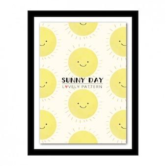 Colorido projeto quadro sol feliz