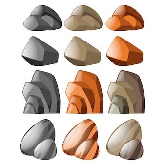 Colorido rochas coleção