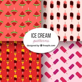 Coloridos, padrões, gelo, cremes, apartamento, desenho