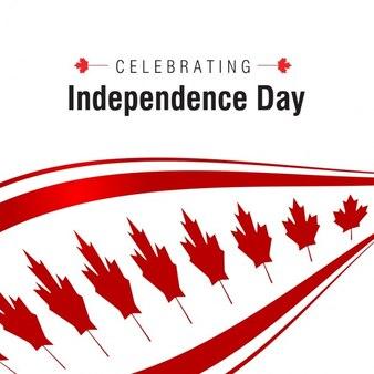Comemorando fundo do Dia da Independência