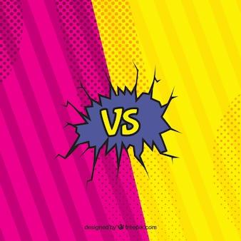 Comic versus fundo com estilo original