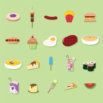 Comida ícone coleção