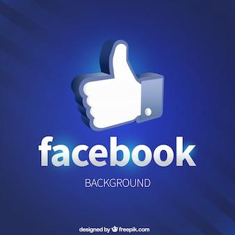 Como facebook ícone do fundo