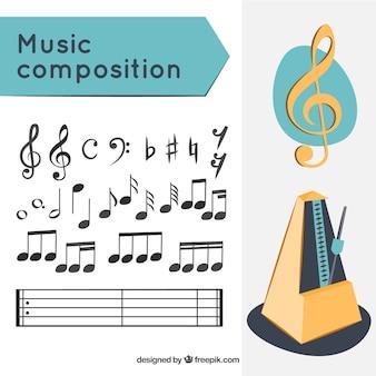 Composição de música