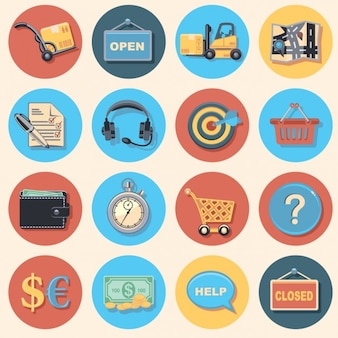 Compras on-line Icons Collection