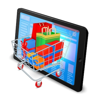 Conceito de compras na Internet