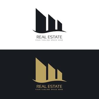 Conceito de design de logotipo para o negócio imobiliário