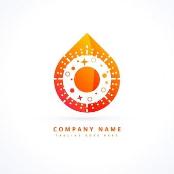 Conceito de design logotipo da chama