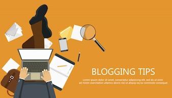 Conceito de dicas de blogs