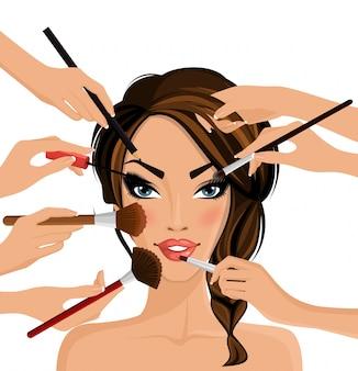 Conceito de maquiagem